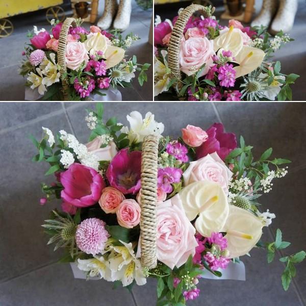 Cách cắm giỏ hoa cho đầu tuần thêm xinh