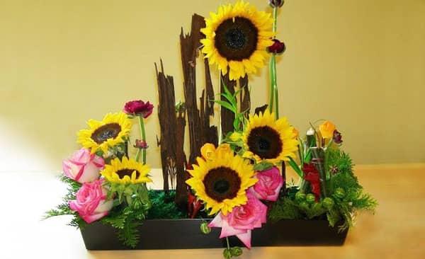 Nghệ thuật cắm hoa hướng dương