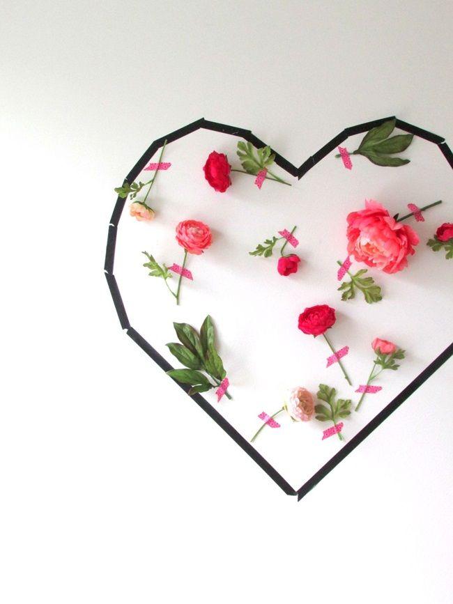 Cách làm tường hoa trái tim trang trí nhà