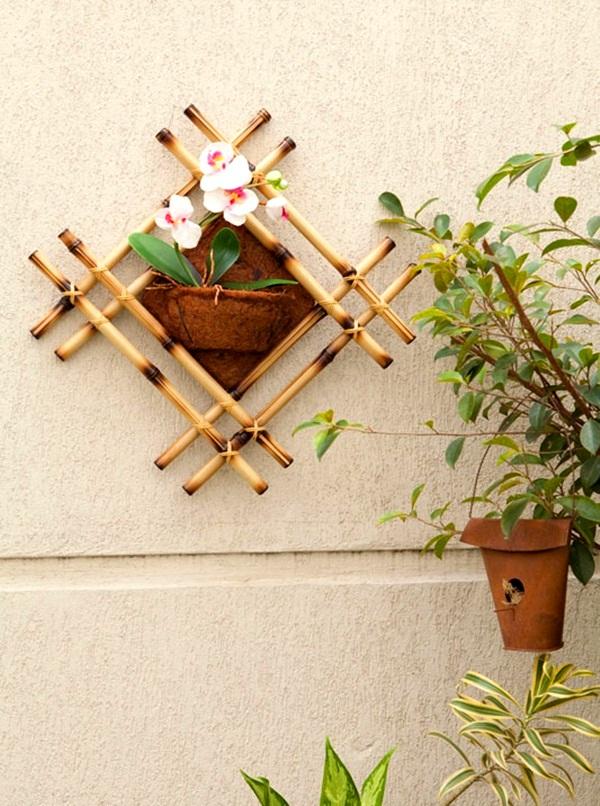 Cách trang trí giỏ lan treo tường