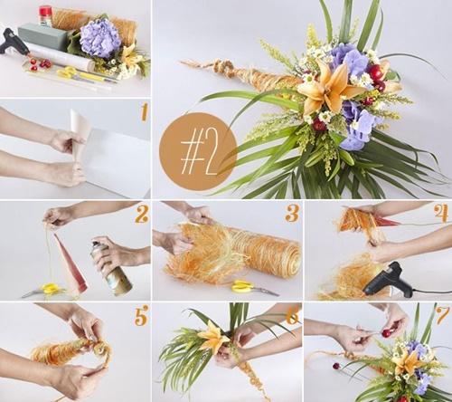 8 cách bó hoa đẹp tặng bạn gái