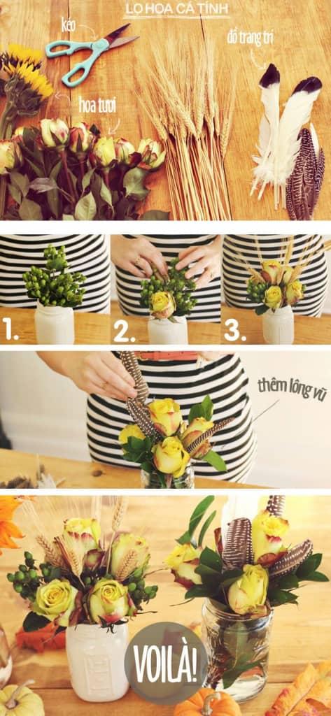 cách cắm hoa tặng mẹ ngày 20-10c
