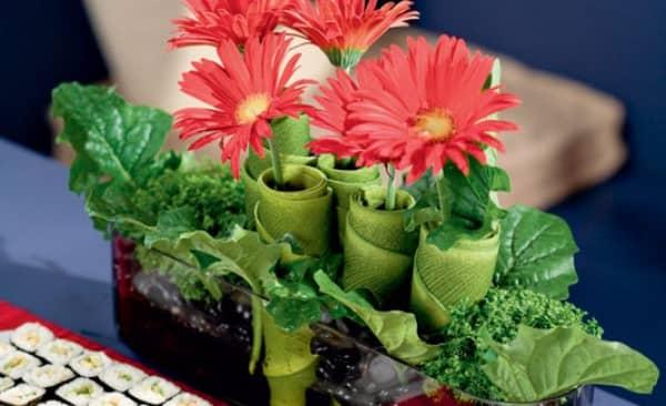 Mới lạ với cách cắm hoa đồng tiền phong cách Nhật