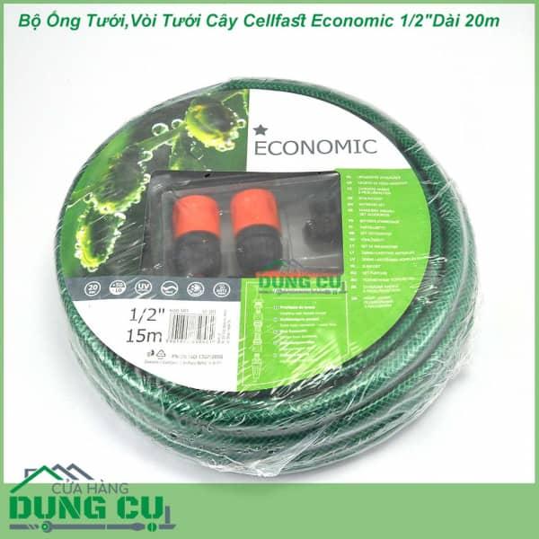 Trọn bộ ống tưới, vòi tưới Cellfast Economic 1/2″Dài 20m (10-100)