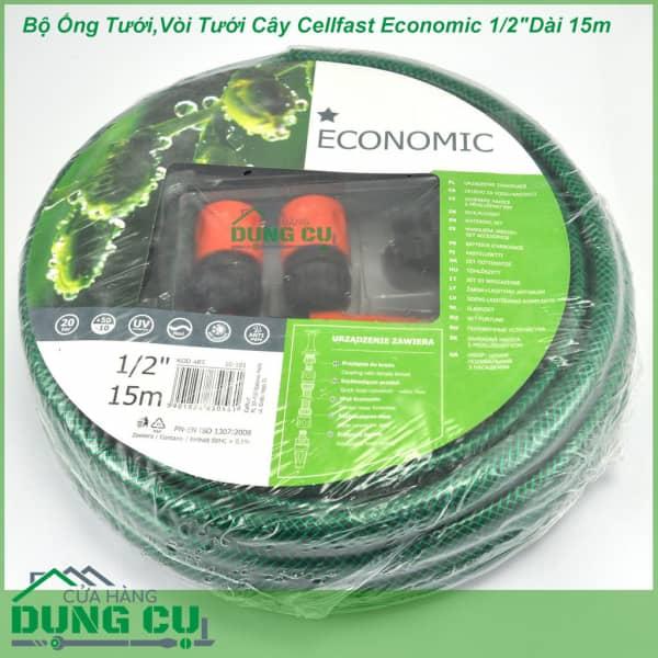 Trọn bộ ống tưới, vòi tưới Cellfast Economic 1/2″Dài 15m (10-101)