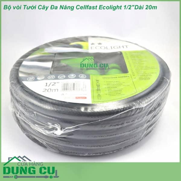 Trọn bộ ống tưới, vòi tưới Cellfast Ecolight 1/2″ Dài 20m (10-190)