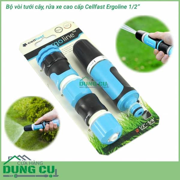 Trọn bộ vòi tưới cao cấp Cellfast Ergo 1/2″ 53-500