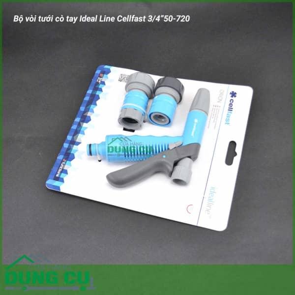 """Trọn bộ vòi tưới cò tay Ideal Line Cellfast 3/4"""" 50-720"""
