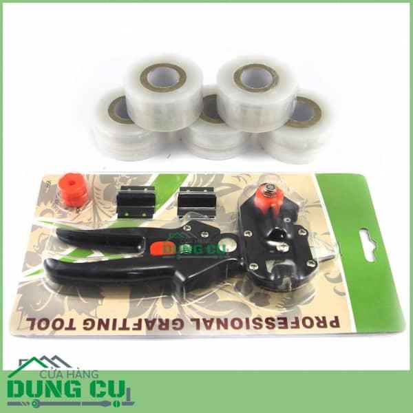 Bộ dụng cụ ghép cây E1000 gồm kéo và băng quấn tự dính