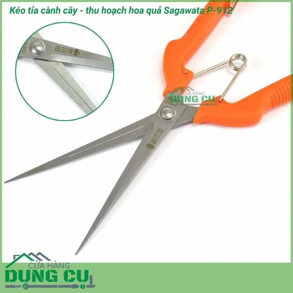 Kéo cắt tỉa cành cây thu hoạch hoa quả Sagawata P-912