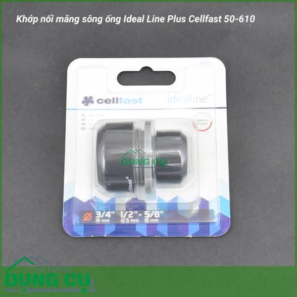 Cút nối măng sông ống Cellfast 50-610 (Φ16-21mm)