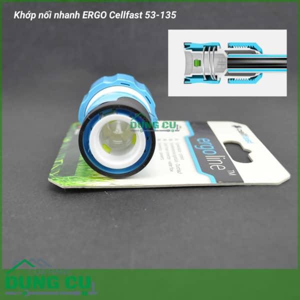 Cút nối nhanh stop ống nước, vòi tưới Cellfast Ergo 3/4″ (53-135)