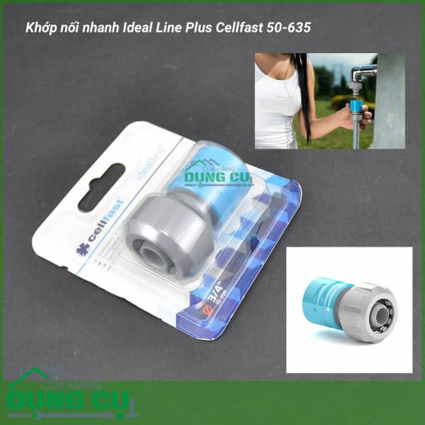 Cút nối nhanh Ideal Line Plus Cellfast 50-635