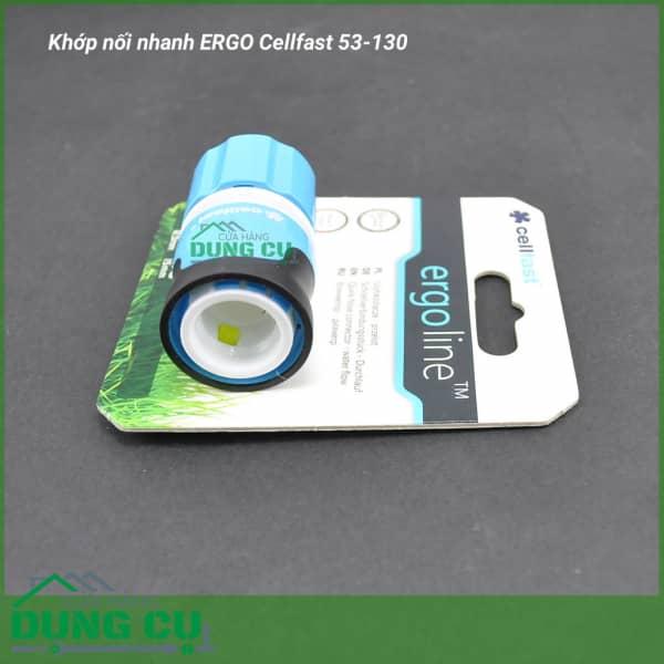 Cút nối nhanh stop ống nước, vòi tưới Cellfast Ergo 1/2″ (53-130)
