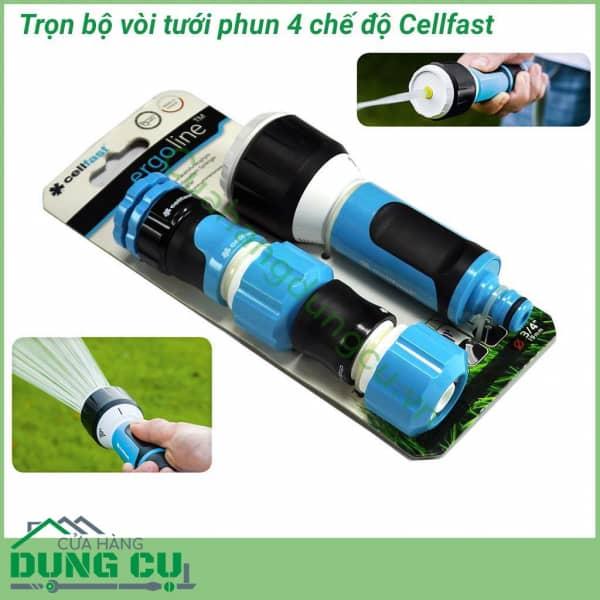 Trọn bộ vòi tưới cây rửa xe Cellfast Ergo 13/4″ 53-515