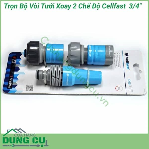 Bộ vòi tưới xoay 2 chế độ Cellfast 50-710