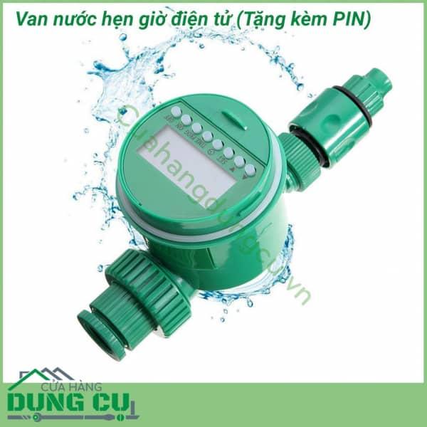 Van nước hẹn giờ điện tử chạy PIN