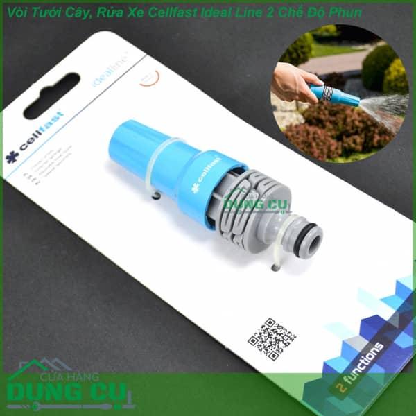 Vòi tưới cây, rửa xe Cellfast 2 chế độ phun (50-700)