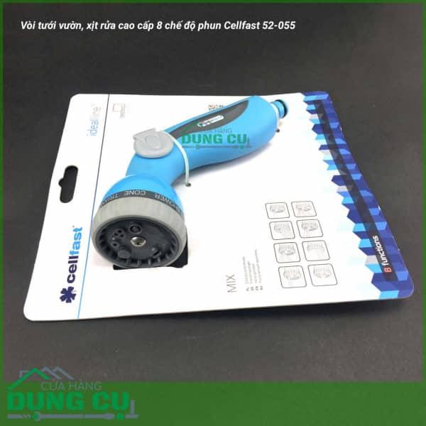 Vòi tưới, xịt rửa cao cấp 8 chế độ Cellfast 52-055