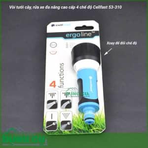 Vòi tưới, rửa đa năng cao cấp 4 chế độ Cellfast 53-310