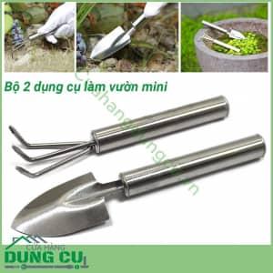 Bộ 2 dụng cụ làm vườn mini