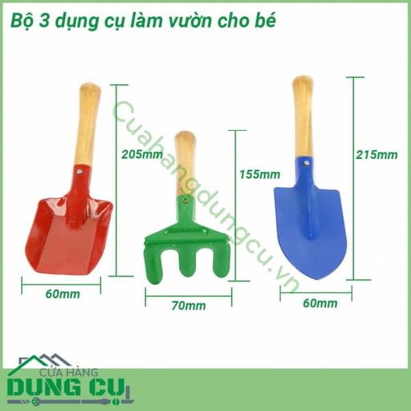 Bộ 3 dụng cụ làm vườn cho bé