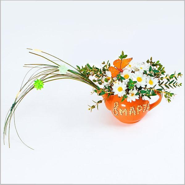 Cách cắm hoa cúc trong tách trà tuyệt đẹp