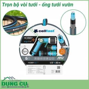 Trọn bộ vòi tưới ống tưới 20m Cellfast Hobby ATS2