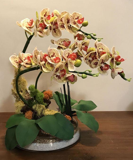 Các kiểu cắm hoa lan hợp phong thủy