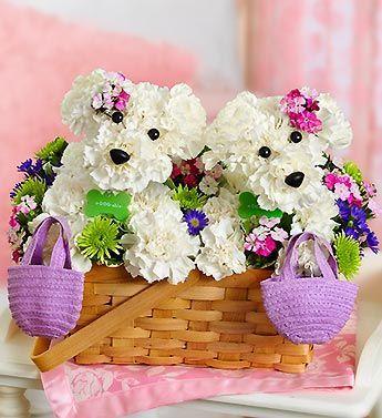 Cách cắm hoa hình con vật