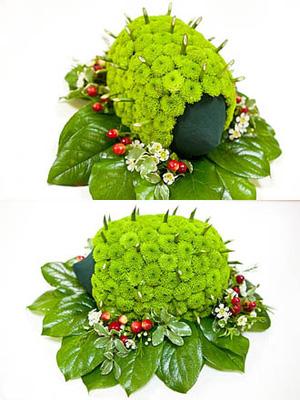 Độc đáo với cách cắm hoa hình con nhím