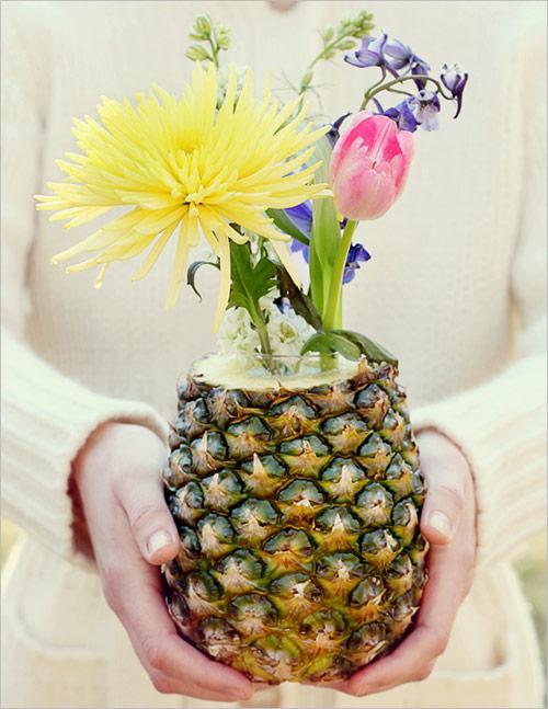 Hướng dẫn cắm hoa xen quả