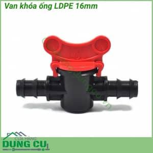 Van khóa ống LDPE 16mm