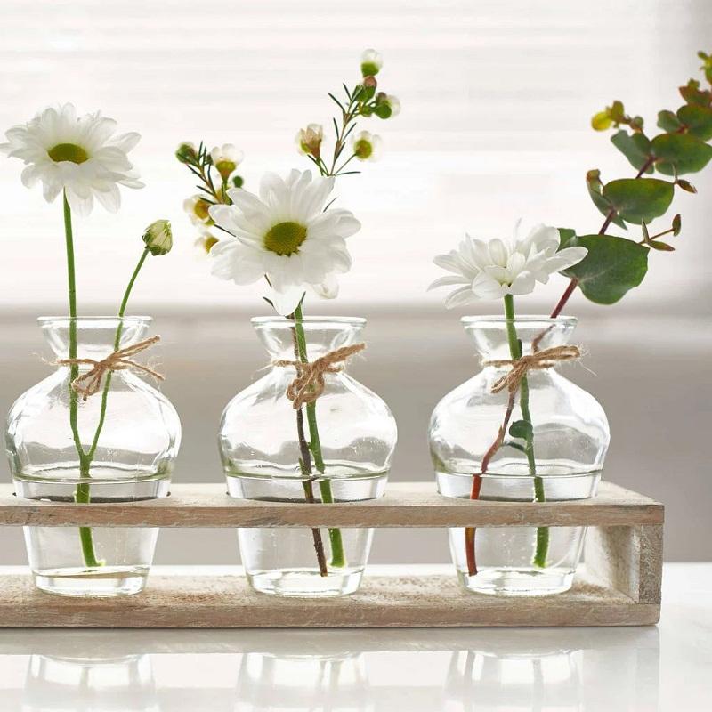 Mẹo cắm hoa trong bình thủy tinh đẹp ngất ngây