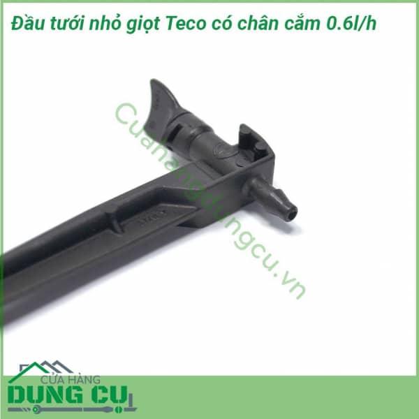 Đầu tưới nhỏ giọt Teco 0-6 L/H cuối ống có chân cắm