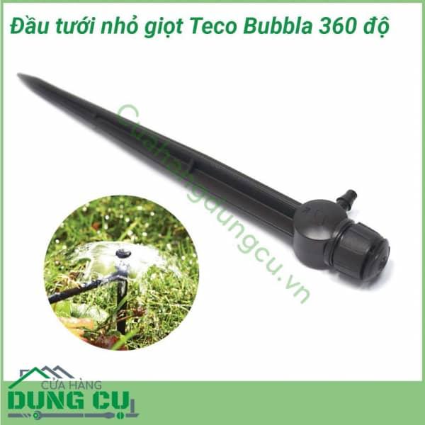 Đầu tưới nhỏ giọt Teco 360° cuối ống 75L/H có chân cắm