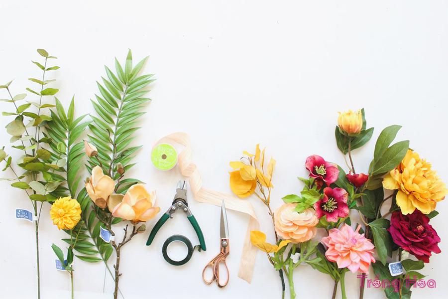 Các bước bó hoa đơn giản