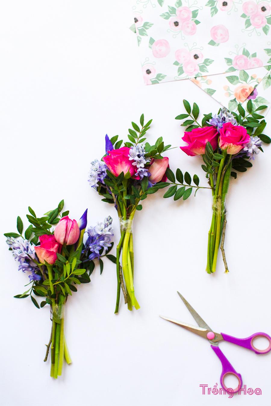 Cách bó hoa bằng giấy gói quà