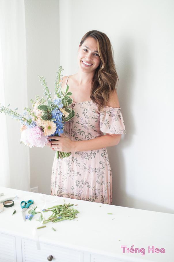 cách tự làm bó hoa cô dâu